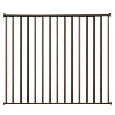 6 ft. x 54 in. Bronze Aluminum Fence Panel Kit with 1 in. Square Balusters