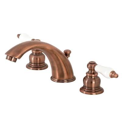 Magellan 8 in. Widespread 2-Handle Bathroom Faucet in Antique Copper