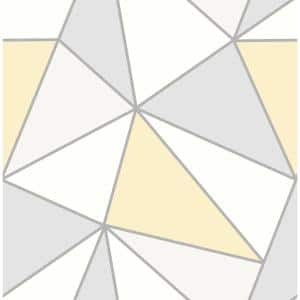 Apex Yellow Geometric Strippable Roll (Covers 56.4 sq. ft.)