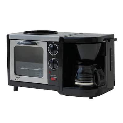 Breakfast Center 1450 W 2-Slice Black Toaster Oven