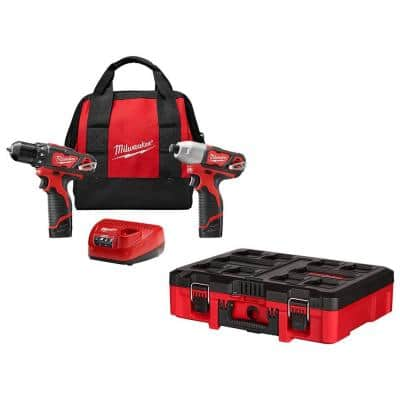 M12 12-Volt Lithium-Ion Cordless Drill Driver/Impact Driver Combo Kit (2-Tool) w/PACKOUT Customizable Tool Box