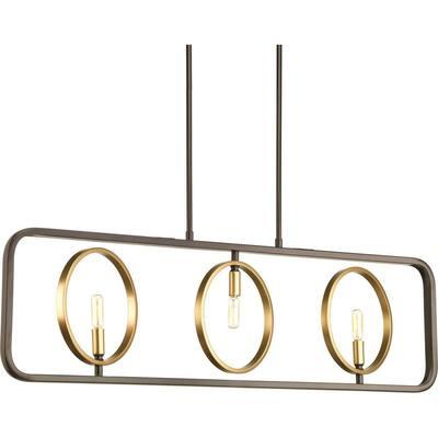 Swing 3-light Antique Bronze Chandelier