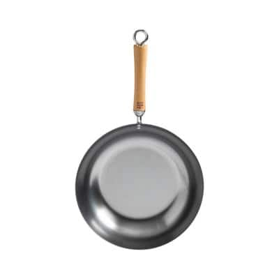 Joyce Chen 12 in. Silver Carbon Steel Stir-Fry Pan with Birchwood Handle