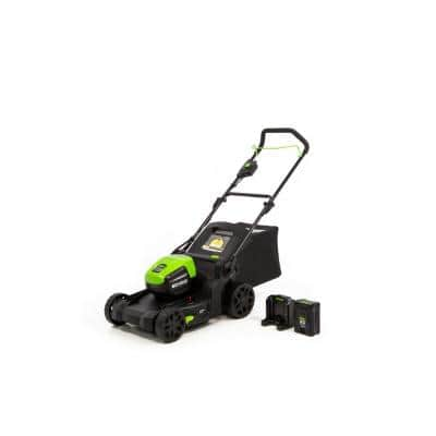 PRO 17 in. 60-Volt Battery Cordless Push Lawn Mower with 4.0 Ah Battery and Charger
