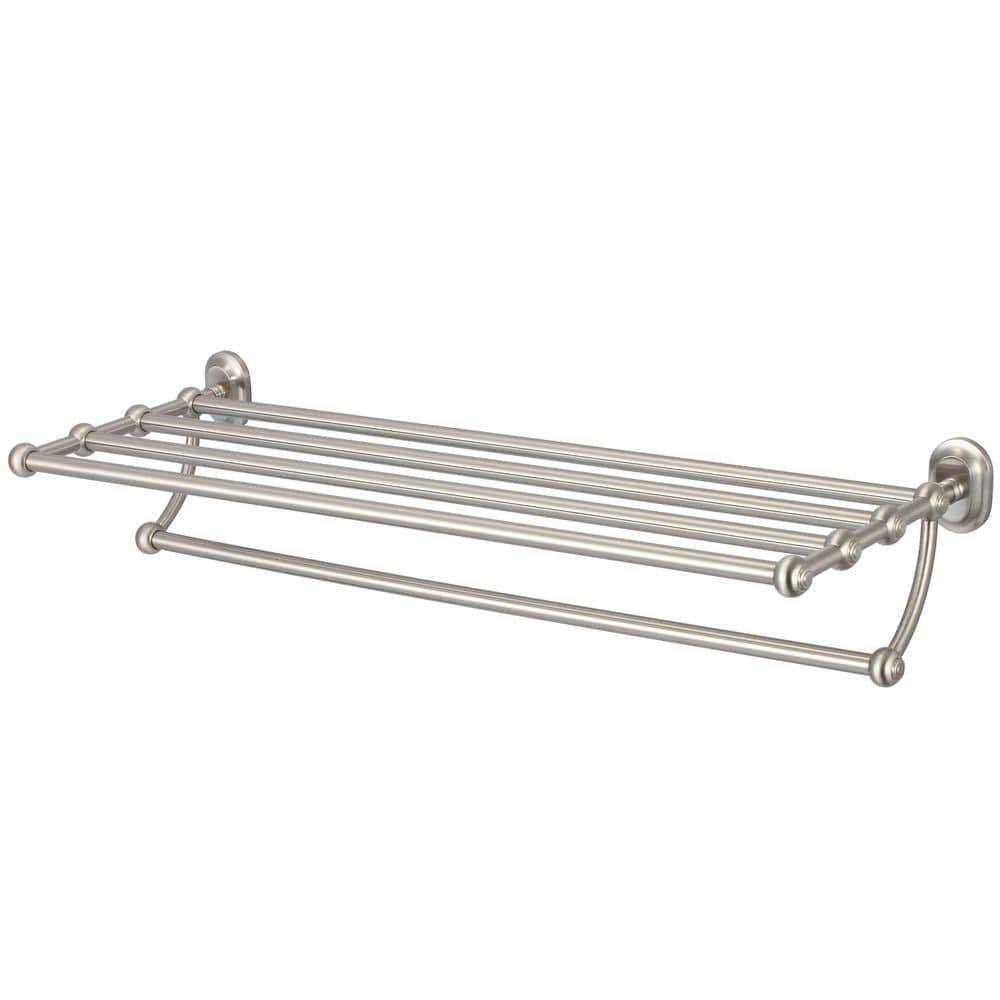 water creation 29 in towel bar and bath train rack in brushed nickel ba 0001 02 the home depot