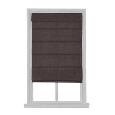 Cordless Blackout Fabric Roman Shade 29X64 Coffee