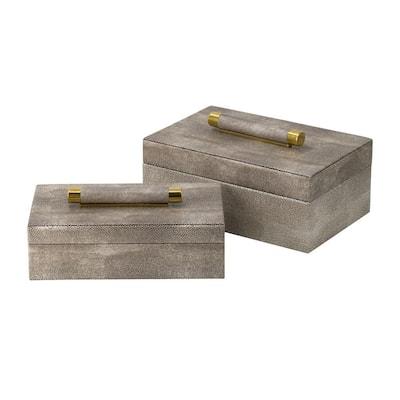 Rectangular Metal Decorative Box (Set of 2)