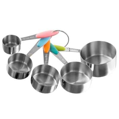 5-Piece Stainless Steel with Silicone Measuring Cup Set