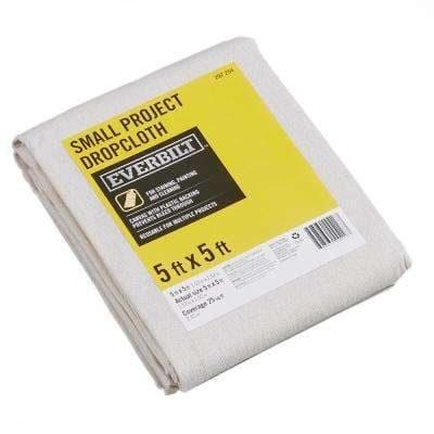 5 Ft x 5 Ft Small Project Canvas Drop Cloth