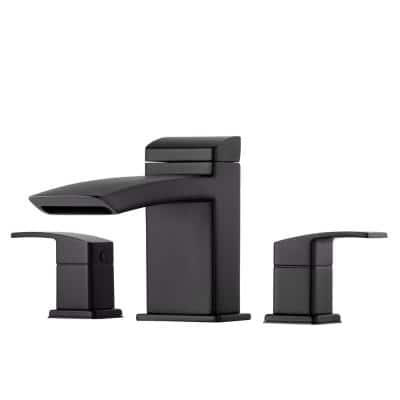 Kenzo 2-Handle Deck Mount Roman Tub Faucet Trim Kit in Matte Black (Valve Not Included)