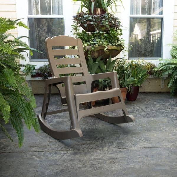 Big Easy Plastic Outdoor Rocking Chair, Plastic Feet For Outdoor Furniture Home Depot