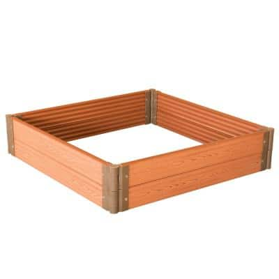 48 in. Classic Traditional Durable Wood- Look Raised Outdoor Garden Bed Flower Planter Box, 4-Pieces
