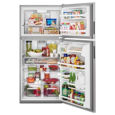 21 cu. ft. Top Freezer Refrigerator in Fingerprint Resistant Stainless Steel