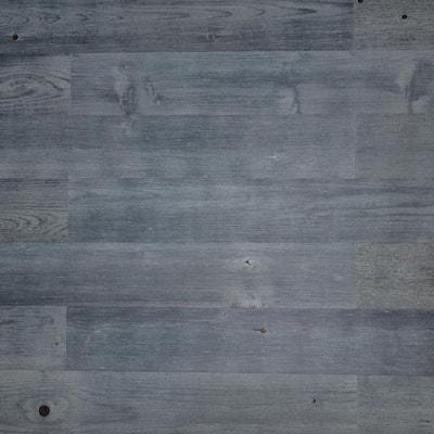 1/8 in. L x 4 in. W x 12-42 in. H Peel and Stick Blue Gray Wooden Decorative Wall Paneling (10 sq. ft./Box)