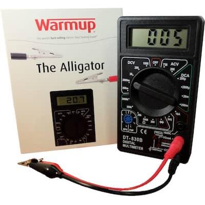 Digital Multimeter Alligator Tester for Heated Floors
