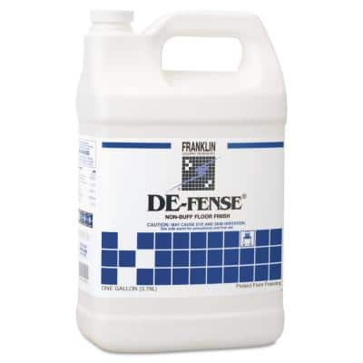 1 Gal. Bottle Liquid, DE-FENSE Non-Buff Floor Finish Non-Carpet Cleaner 4 per Carton