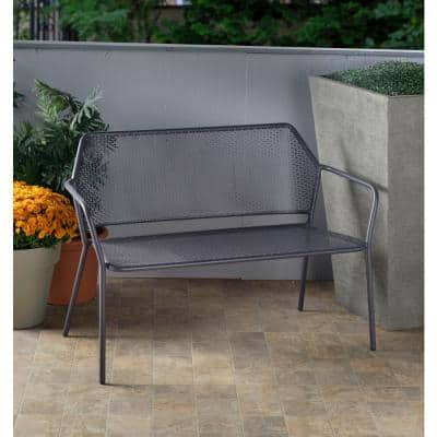 24 in. Martini Pencil Point Finish Metal Outdoor Garden Bench