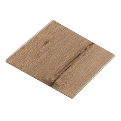 Take Home Sample - Vinyl Pro Classic Aged Hickory Vinyl Plank - 7-1/8 in. W x 6 in. L