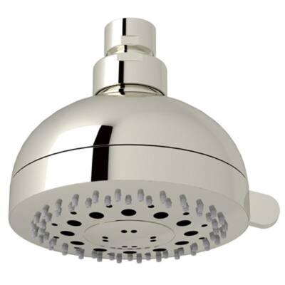 3-Spray 4 in. Single Wall Mount Fixed Rain Shower Head in Polished Nickel