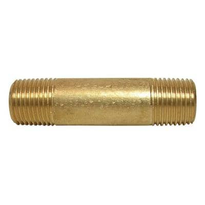 3/4 in. x 2 in. MIP Brass Nipple Fitting