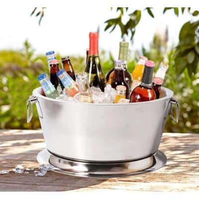 17.75 in. Small Round Double Wall Beverage Tub