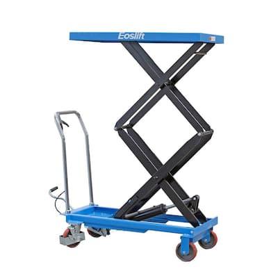 770 lbs. 20.5 in. x 39.8 in. Dual Scissor Lift Table Cart
