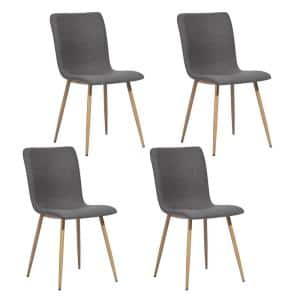 Dining Chair Gray Upholstered Side Chair (Set of 4)