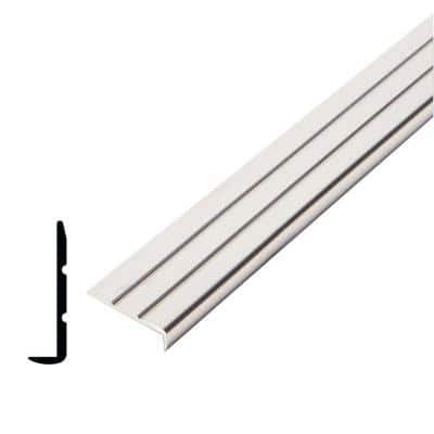 1/4 in. x 15/16 in. x 96 in. Metal Mira Lustre Grooved Edging Moulding