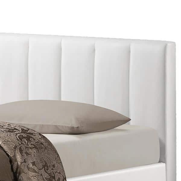 Queen Upholstered Bed 28862 6113 Hd, Engelbertha White Queen Upholstered Bed