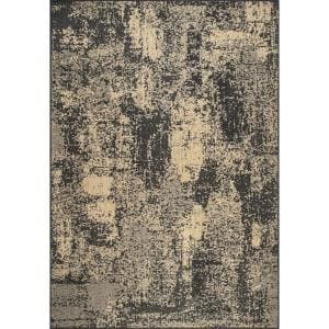 Maeve Mottled Charcoal 8 ft. x 10 ft. Abstract Indoor/Outdoor Area Rug