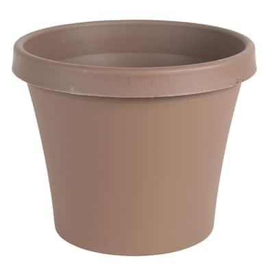 Terra 20 in. Chocolate Plastic Planter