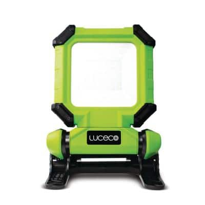 Green 15-Watt Rechargeable Integrated LED Clamp Light