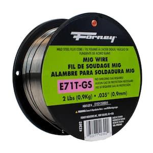 0.035 Dia E71TGS Flux Core Mild Steel MIG Wire 2 lb. Spool