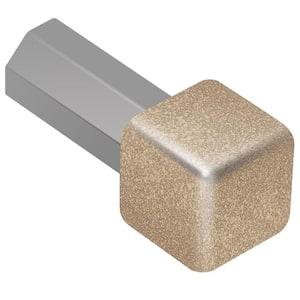 Quadec Beige Textured Color-Coated Aluminum 5/16 in. x 1 in. Metal Inside/Outside Corner