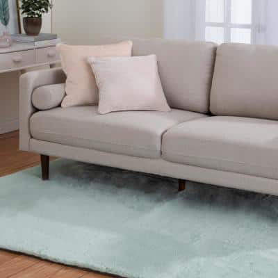 Bazaar Piper Seafoam 8 ft. x 10 ft. Solid Polyester Area Rug