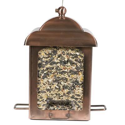 Antique Copper Chalet Hanging Bird Feeder - 2.5 lb. Capacity