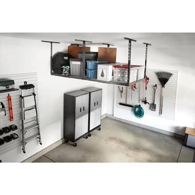 GearLoft Hammered Granite Adjustable Height Overhead Garage Storage Rack (48 in W x 96 in D)