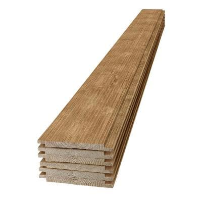 1 in. x 8 in. x 4 ft. Barn Wood Light Brown Shiplap Pine Board (6-Pack)