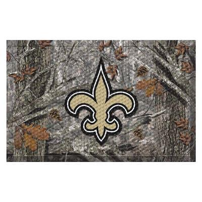 NFL - New Orleans Saints 19 in. x 30 in. Outdoor Camo Scraper Mat Door Mat