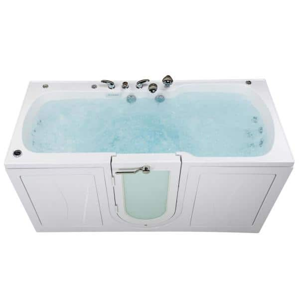 Ella 80 In Big4two Walk In Whirlpool Air Microbubble Foot Massage Tub In White Outward Door Heated Seat Fast Fill Faucet O2sa3680tmfh The Home Depot