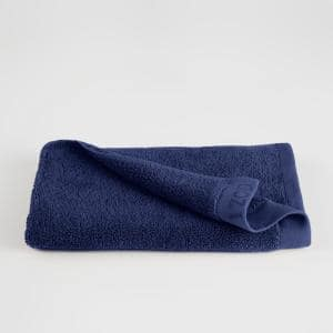 Classic Dress Blue Solid Egyptian Cotton Single Hand Towel