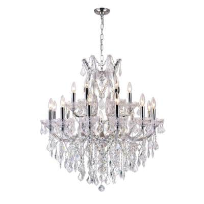 Maria Theresa 19-Light Chrome Chandelier