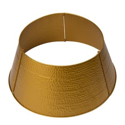 26 in. Dia Golden Hammered Metal Tree Collar(KD)