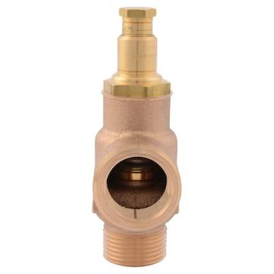 3/4 in. MIP x 3/4 in. FIP Brass FWC Adjustable Pressure Relief Valve