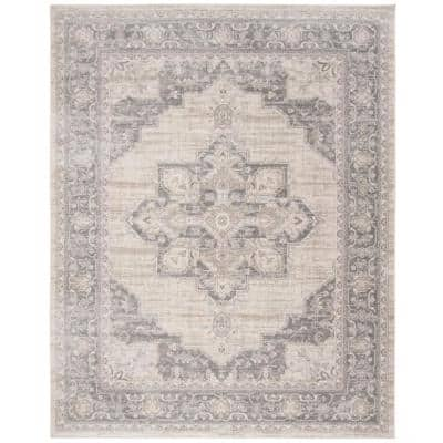 Brentwood Cream/Gray 9 ft. x 12 ft. Area Rug