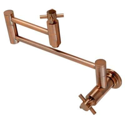 Concord Wall Mounted Pot Filler in Antique Copper