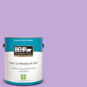 Behr Premium Plus 1 Qt 660a 3 New Violet Satin Enamel Exterior Paint And Primer In One 905004 The Home Depot