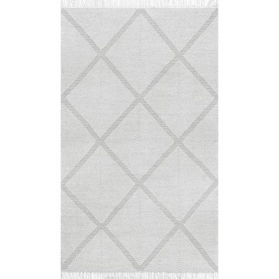 Concetta Geometric Silver 8 ft. x 10 ft. Area Rug