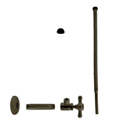 1/2 in. IPS x 3/8 in. O. D. x 15 in. Corrugated Supply Kit with Cross Handle, Oil Rubbed Bronze