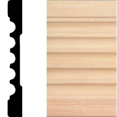 769 - 1/2 in. x 4 in. x 7 ft. Basswood Wood Fluted Casing Moulding